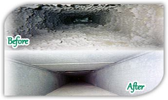 duct cleaning - before and after